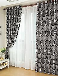 Dos Paneles Ventana Tratamiento Moderna Dormitorio Poliéster Material Blackout cortinas cortinas Decoración hogareña For Ventana