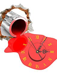 PAG®Modern Design 3D Effect Gun Pattern Clock Sticker 14.96*15.07 in