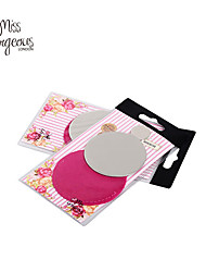MISS GORGEOUS Innovative Die Cut Steel Mirror Cosmetic Portable Compact Pocket Mirror Hot Pink Makeup Tool