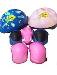 chicos y chicas lugerda patinaje zapatos de patinaje en monopatín casco de seguridad traje de protección de la rodilla de 7 piezas de