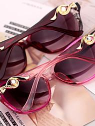 Sunglasses Women's Sports / Fashion Oval Watermelon / Dark Red / Wine Sunglasses / Driving Full-Rim