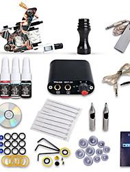 Starter Tattoo Kit 1 Machine Guns 4 Inks Power Supply Needles