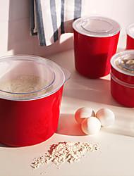 1.5L LJUST Red Color Jar with lid Transparent Cover