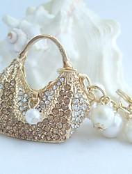 bolsa chaveiro bolsa encantador com topázio&cristais de strass claras