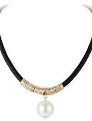 Necklace Vintage Necklaces Jewelry Wedding / Party / Daily / Casual / Sports / N/A Pearl / Alloy Gold 1set Gift