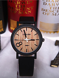 Simulation Wooden Relojes Quartz Men Watches Casual Wooden Color Leather Strap Watch Wood Male Wristwatch Cool Watches Unique Watches