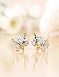 Tous jewelry silver earings 925 women korean tv drama fine jewelry owl diamond 3a cz stud earrings brincos vintage
