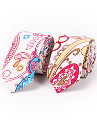 Cotton And Linen Printed Narrow Tie 6.5cm