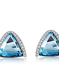 Mengguang Earrings Wholesale Diamond Earrings Exaggerated Triangle