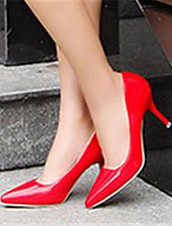 Женская обувь - Pumps/Heels ( PU , Черный / Серый / Розовый / Красный ) Высокий тонкий каблук - 6-9 см