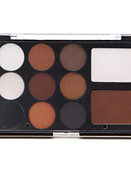 11 Lidschattenpalette Schimmer Lidschatten-Palette Kompaktpuder Normal Alltag Make-up / Smokey Makeup