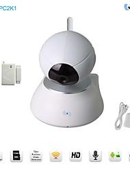 Snov Wireless IP IR PTZ Surveillance Camera with Alarm Detectors,Motion Detection, Kit Including 1pc Door Sensor