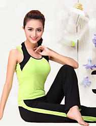 Women's Yoga Suits Half Sleeve Breathable / Lightweight Materials Green / Gray Yoga / Fitness M / L / XL / XXL