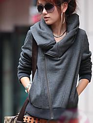 W.E.B    Women's Solid Color Gray Coats & Jackets , Sexy / Casual Asymmetrical Long Sleeve
