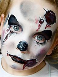 Halloween visage peint partie déco de visage pour les enfants (1 pc) (8 couleurs)