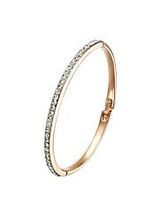Women's Cuff Bracelet Alloy Crystal