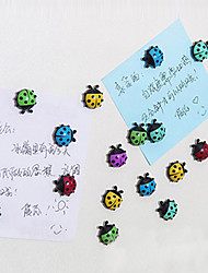 Set of 6 Creative Ladybird Beetle Shaped Fridge Magnet Sticker Home Decor (Random Color)