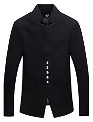 Autumn Stand Collar Jacket Male Slim The Trend Of Fashion Male Woolen Outerwear