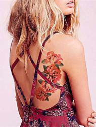 Yimei - Tatuajes Adhesivos - Non Toxic/Waterproof - Series de Flor - Mujer/Hombre/Adulto/Juventud - Multicolor - Papel - 5 - 21*10.2cm -