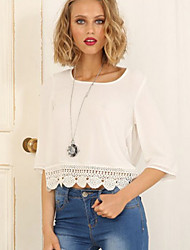 Women's Solid White Blouse