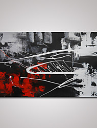 Hand-Painted Modern Abstract Red and Black and White Oil Painting on Canvas Ready to Hang