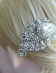 Bridal Headpiece Wedding Hair Comb Silver-tone Rhinestone Crystal Flower Hair Comb Bridal Hair Comb Wedding Jewelry