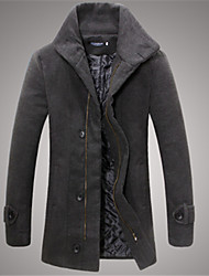 Men's Pan Collar Coats & Jackets , Tweed Long Sleeve Casual / Work Fashion Winter / Fall Jeoneu