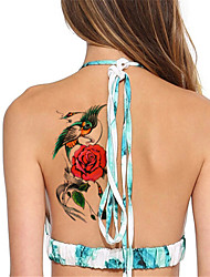 5 Tatouages Autocollants Séries animales Séries de fleur Non Toxique ImperméableHomme Femme Adulte Adolescent Tatouage Temporaire