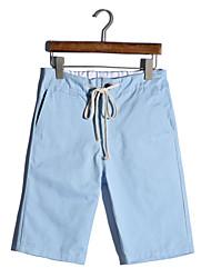 Effen-Informeel-Heren-Polyester-ShortZwart / Blauw / Groen / Rood / Geel / Beige / Geelbruin
