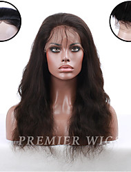 8A Premierwigs 8''-24'' Chinese Virgin Natural Wave Silk Base Full Lace Wigs Lace Front Human Hair Wigs For Black Women