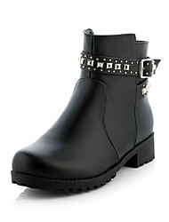 Women's Shoes Fashion Boots/Low Heel/Round Toe/Ankle Boots Dress/Casual/Black