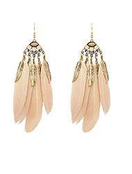 Fashion Women Feather Dangle Earrings