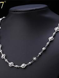 U7® Women's Gold Bead Chain Platinum/18K Gold Plated 2015 New Fashion Women Jewelry Fancy Ball Chain Necklace