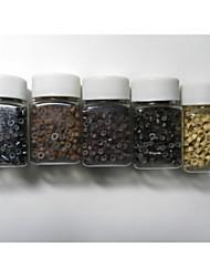 500 Stück von Mikrosilikonringe / Links Perlen 5colours für Menschenhaarverlängerung