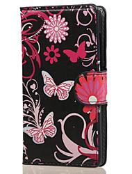 Pour Coque Nokia Portefeuille Porte Carte Avec Support Coque Coque Intégrale Coque Papillon Dur Cuir PU pour NokiaNokia Lumia 850 Nokia