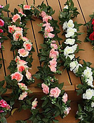 Wedding Decoration Flower Vine Plastic Roses Artificial Flowers(1PC)