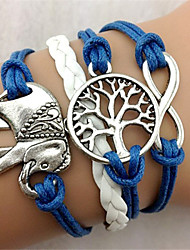 KAILA The New Fashion Women Woven  Vintage / Cute / Party / Casual Alloy / Fabric / Leather Braided/Cord Bracelet Christmas Gifts