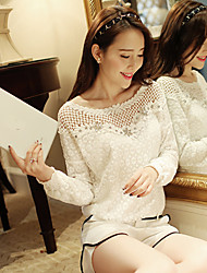 YIYI Women's Tops & Blouses , Sexy/Casual/Work Round Long Sleeve