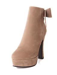 Women's Shoes Chunky Heel Platform / Fashion Boots Boots Party & Evening / Dress Black / Pink / Beige