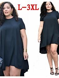 Plus Size  (L-3XL)Women's Plus Size Dresses , Vintage / Sexy / Beach / Casual / Cute VICONE