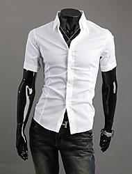 Informeel Shirt Kraag - MEN - Vrijetijds shirts ( Polyester / Rayon )met Korte Mouw