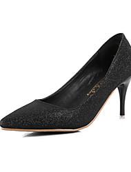 Women's Shoes Stiletto Heel Heels / Pointed Toe / Closed Toe Heels Dress Black / Silver / Gold