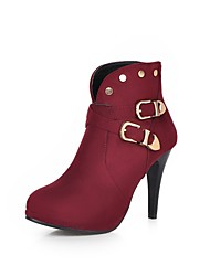 Women's Shoes Fleece Stiletto Heel Fashion Boots/Pointed Toe Boots Dress/Casual Black/Navy/Burgundy