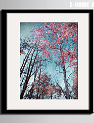 E-HOME® Framed Canvas Art, Leaves of Trees Framed Canvas Print