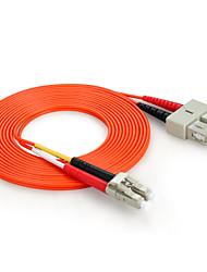 Shengwei®  SC(UPC)-LC(UPC) Multimode Double Core Fiber Patch Cord 3M/5M/10M