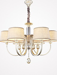 40w Chandelier ,  Country Painting Feature for Crystal Metal Living Room / Bedroom / Dining Room