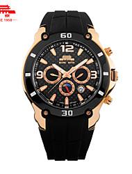 Automatic Mechanical Watch Men Multifunctional Sport Watch Dial Calendar Large Luminous Waterproof Watch