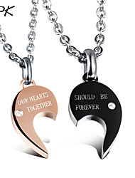 OPK®Heart-shaped Puzzle Necklace Love Gift Bone Heart