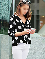 Sweater Women's Character Multi-color Casual Shirts , Sexy/Beach/Casual/Party V-Neck Long Sleeve