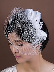 Women's Satin/Rhinestone/Crystal/Imitation Pearl/Net Headpiece - Wedding/Special Occasion Birdcage Veils 1 Piece